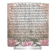 Desiderata On Lotus Watercolor Shower Curtain