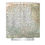 Desiderata On Mother Earth Watercolor Shower Curtain