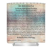 Desiderata On Pastel Watercolor Shower Curtain