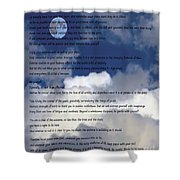 Desiderata On Sky Scene With Full Moon And Clouds Shower Curtain