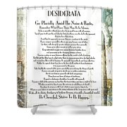 Desiderata On The Piazza Shower Curtain