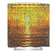 Desiderata Pismo Beach Golden Sunset Shower Curtain