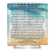 Desiderata Poem On Brighton Beach Watercolor Shower Curtain