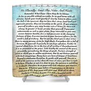 Desiderata Poem On Watercolor Shower Curtain