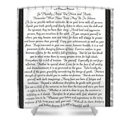 Desiderata Poster Shower Curtain