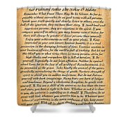 Desiderata Poster On Antique Embossed Wood Paper Shower Curtain
