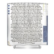 Desiderata Sailing In Style Shower Curtain