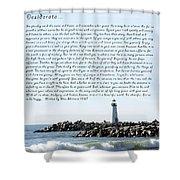 Desiderata Santa Cruz Lighthouse Shower Curtain