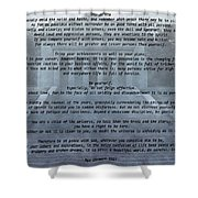 Desiderata Stairs Shower Curtain