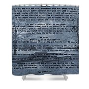 Desiderata Winter Scene Shower Curtain