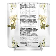Desiderata With Art Shower Curtain