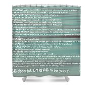 Desiderata 15 Shower Curtain