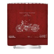 Original Design For A 1928 Harley Motorcycle Shower Curtain