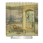 Design For A Bathroom, From Interieurs Shower Curtain