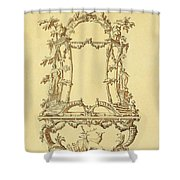 Design For A Console Table Shower Curtain