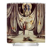 Design For Aeschylus The Eumenides Shower Curtain