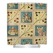 Design For Nursery Wallpaper Shower Curtain
