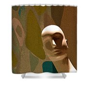 Design With Mannequin Shower Curtain