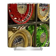 Designer Hubcaps Shower Curtain