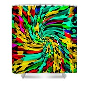 Designer Phone Case Art Colorful Rich And Bold Abstracts Cell Phone Covers Carole Spandau Cbs Art136 Shower Curtain by Carole Spandau