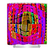 Designer Phone Case Art Colorful Rich Bold Abstracts Cell Phone Covers Carole Spandau Cbs Art 138 Shower Curtain