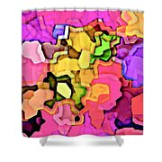 Designer Phone Case Art Colorful Rich Bold Abstracts Cell Phone Covers Carole Spandau Cbs Art 141 Shower Curtain
