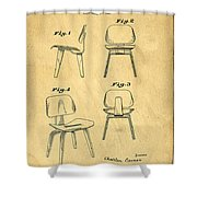 Designs For A Eames Chair Shower Curtain by Edward Fielding