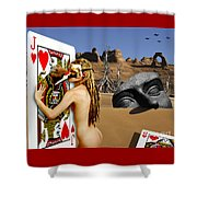 Desire And The Jack Of Hearts Shower Curtain