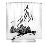 Desolation Peak_alone Time Shower Curtain