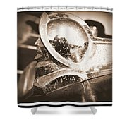 Desoto Deluxe Car Hood Ornament Shower Curtain