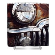 Desoto Headlight Shower Curtain