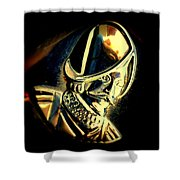 Desoto Wheel Emblem Abstract Shower Curtain