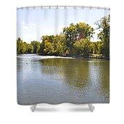 Desplaines River Shower Curtain