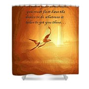 Destination And Desire Shower Curtain