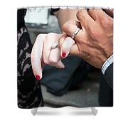 Destination Wedding Hands New Orleans Shower Curtain