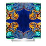 Destiny Unfolding Into An Abstract Pattern Shower Curtain