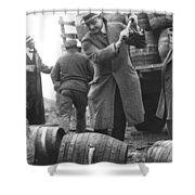 Destroying Barrels Of Beer Shower Curtain