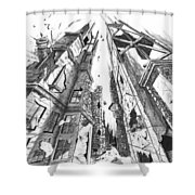 Destruction Shower Curtain