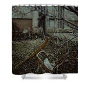 Destruction Shower Curtain by Margie Hurwich