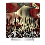 Destruction Of The Earth Abstract Shower Curtain