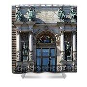 Detail City Hall Hamburg II Shower Curtain