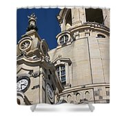 Detail Frauenkirche Dresden Shower Curtain