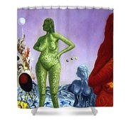 Detail From - The Dreamer's Night Shower Curtain