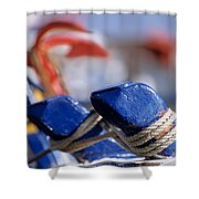 Detail From Fishing Boat Shower Curtain