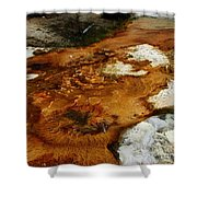 Detail Mammoth Springs Yellowstone Shower Curtain