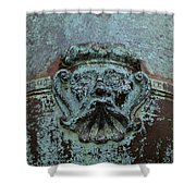 Detail Of A Bronze Mortar Shower Curtain