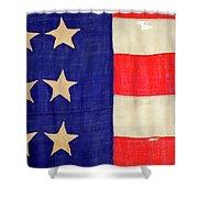 Detail Of A Civil War Flag In Drummer Shower Curtain