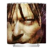 Detail Of Daryl Dixon  Shower Curtain