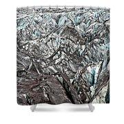 Detail Of Icelandic Glacier Shower Curtain