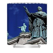 Detail Of Mary Queen Of The World Cathedral Shower Curtain